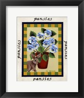 Framed American Flowers I