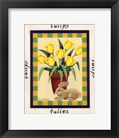 Framed American Flowers III
