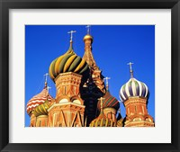 Framed High section view of a cathedral, St. Basil's Cathedral, Moscow, Russia