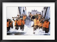 Framed Turkish Marines Amphibious Landing NATO Maneuvers
