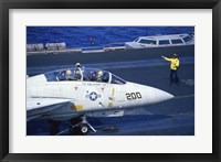 Framed Grumman F-14 Tomcat Flight Deck USS Eisenhower