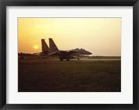 Framed US AIR FORCE, F-15 EAGLE FIGHTER JET