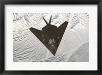Framed Lockheed F-117 Stealth Fighter