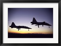 Framed US Air Force  T-38 Trainers