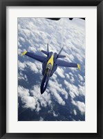 Framed U.S. Navy Blue Angels F-18 Hornet