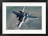 Framed F-15 Eagle Fighter Jet U.S. Air Force