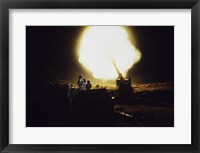Framed M198 Towed Howitzer Night Fire