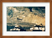 Framed Missile approaching an M47 Tank