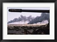 Framed Kuwait: An Oil Field Set  Ablaze