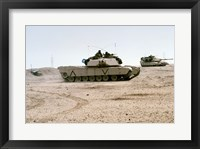 Framed Kuwait: Two M-141 Abrams Main Battle Tanks