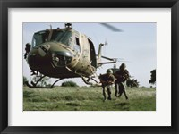 Framed UH-1H HUEY