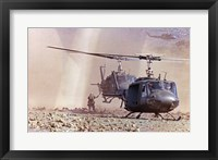 Framed UH-1A Iroquois Helicopters