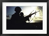 Framed Soldier