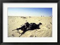 Framed Saudi Arabia: Members of the 1st BN During Desert Shield