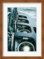 Framed Close-up of a submarine missile silos