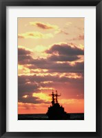 Framed Silhouette of the USS Deyo