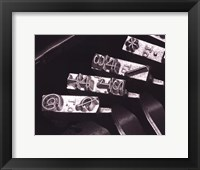 Typewriter Symbols Framed Print