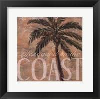 Coastal Palm Framed Print