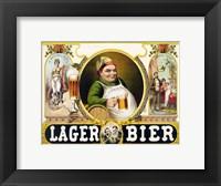Framed Lager Bier