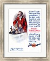 Framed Pabst Blue Ribbon Beer 1911