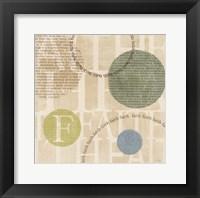 Circle of Words - Faith Framed Print