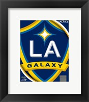 Framed 2011 LA Galaxy Team Logo