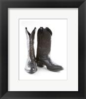 Framed Black Cowboy Boots