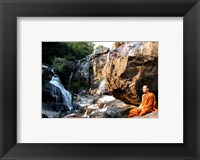 Framed Buddhist Monk In Mae Klang Waterfall