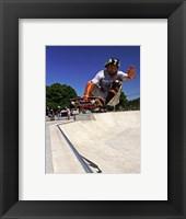 Framed Santa Cruz Skateboard