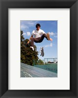 Framed Skateboarding Jump