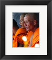 Framed Buddhist Monk Meditation in Wat Khung Taphao