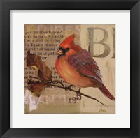 Red Love Birds I Framed Print