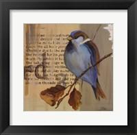 Blue Love Birds I Framed Print