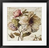 Framed Marche de Fleurs II