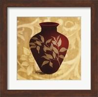Framed Red Vase II