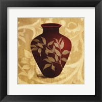Framed Red Vase II
