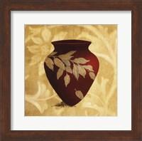Framed Red Vase I