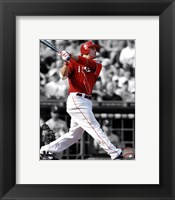Framed Joey Votto 2011 Spotlight Action