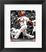 Framed Albert Pujols 2011 Spotlight Action