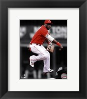 Framed Brandon Phillips 2011 Spotlight Action