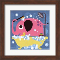 Framed Elephant in Bathtub
