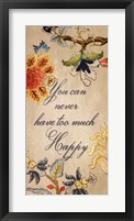 Happy quote Framed Print