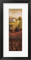 Framed Flourishing Vineyard Panel I