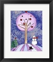 Tree in Winter Framed Print