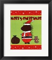 Santa Quill Framed Print