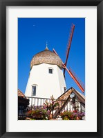 Framed Windmill on Alisal Road, Solvang, Santa Barbara County, Central California up close