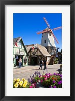 Framed Windmill on Alisal Road, Solvang, Santa Barbara County, Central California, USA