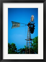 Framed Low angle view of an industrial windmill, Winterset, Iowa, USA