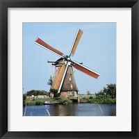 Framed Windmills Kingergisk Netherlands