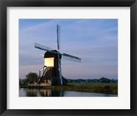 Framed Windmill, Kinderdijk, Netherlands